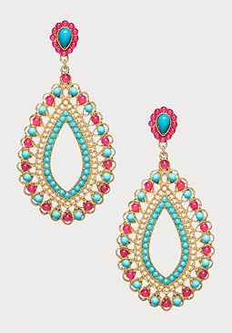 bebe Beaded Statement Earrings