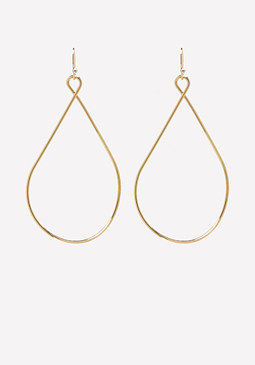 bebe Slim Twisted Metal Earrings