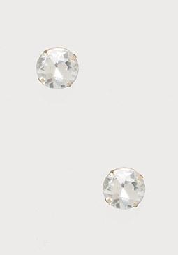 bebe Large Crystal Stud Earrings