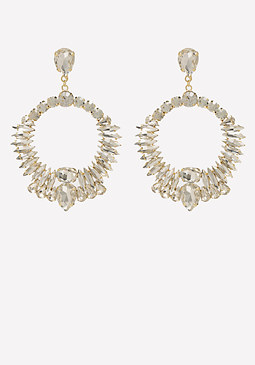bebe Dramatic Crystal Earrings