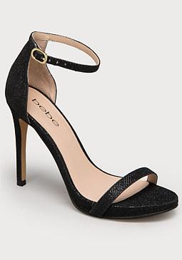bebe Revaa Glitter Mesh Sandals