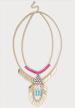 bebe Triangle Pendant Necklace