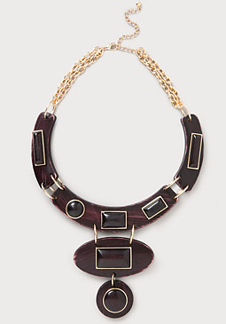 bebe Resin Statement Necklace