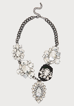 bebe Crystal Station Necklace