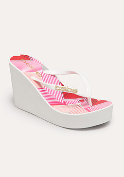 bebe Equator Stripe Sandals