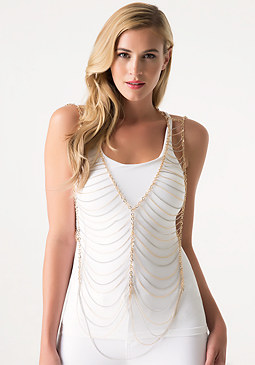 bebe Chain Vest Body Jewelry