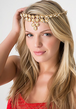 bebe Pearlescent Flower Crown