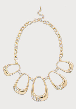 bebe Open Oval Necklace