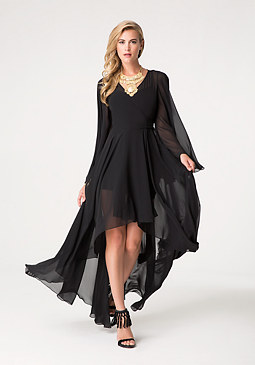 bebe Bella Hi-Lo Wrap Dress