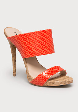 bebe Shiraa Exotic Mule Sandals