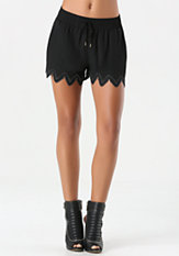 bebe Cecil Zigzag Trim Shorts