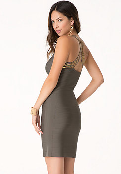 bebe Crossback Bandage Dress