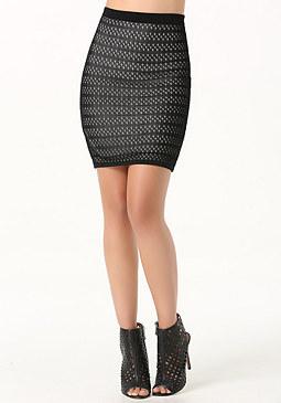 bebe Pointelle Bandage Skirt