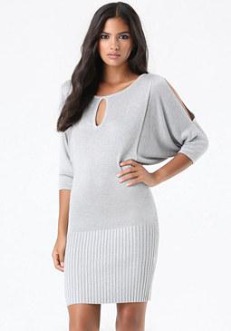 bebe Pointelle Sweater Dress