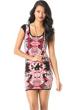 bebe Artisan Jacquard Dress