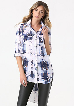 bebe Patch Pocket Tunic