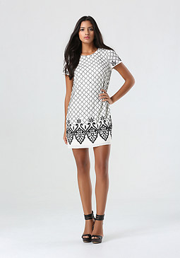 bebe Beaded Shift Dress
