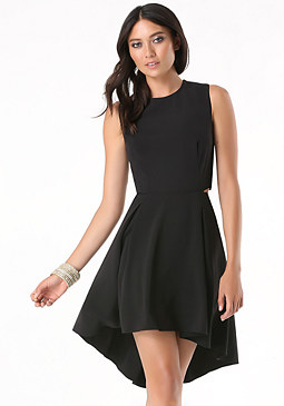 bebe Crepe Hi-Lo Dress