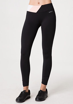bebe Shirred Colorblock Leggings