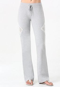 bebe Logo Crochet Inset Pants
