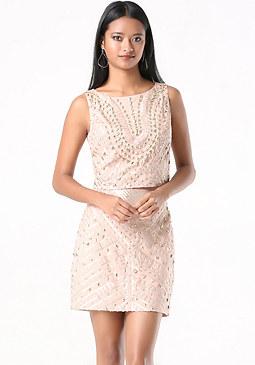bebe Embellished 2-Piece Dress