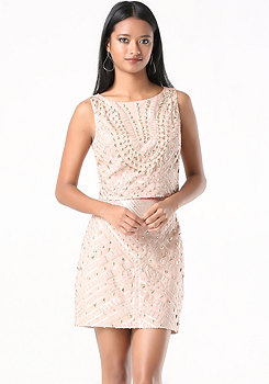 bebe Embellished 2-Piece Dress