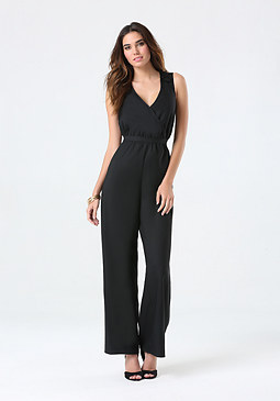 bebe Ani Crochet Back Jumpsuit