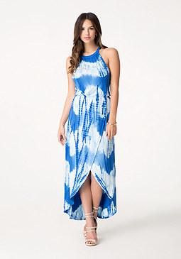 bebe Tie Dye Maxi Dress