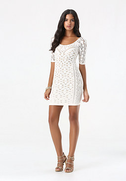 bebe Fable Lace Dress