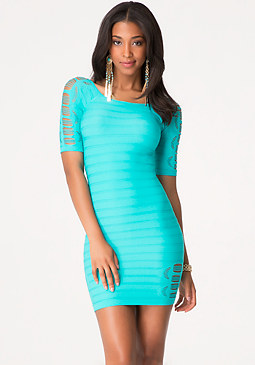 bebe Lisa Slash Sleeve Dress
