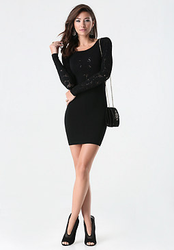 bebe Ava Lace Dress