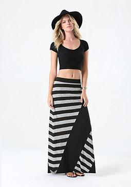 bebe Logo Maxi Skirt