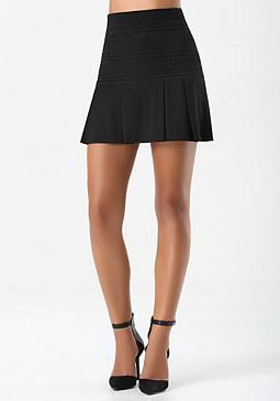 bebe Goddess Ponte Miniskirt
