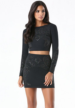 bebe Studded 2-Piece Dress
