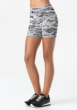 bebe Camo Print Shorts