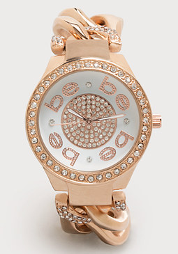 bebe Logo Chainlink Watch