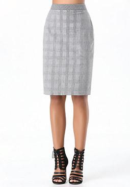 bebe Drita Houndstooth Skirt