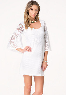 bebe Sharon Bell Sleeve Dress