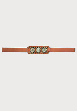 bebe Leather & Stone Belt