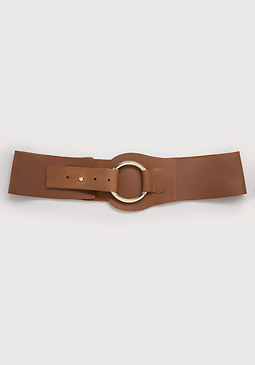 bebe Leather Hip Belt
