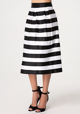 bebe Zola Striped Skirt