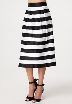 bebe Zola Striped Skirt