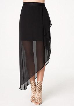bebe Asymmetric Drape Skirt