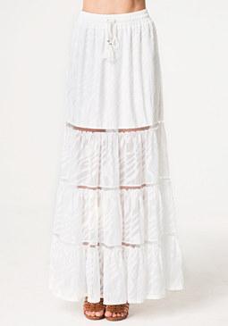 bebe Petite Sheer Maxi Skirt