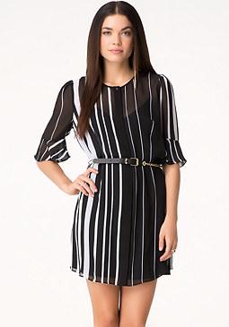 bebe Striped Shirtdress