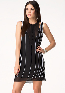 bebe Stripe Block Shift Dress