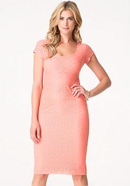 bebe Eve Eyelet Midi Dress