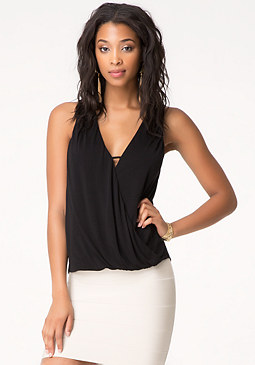 bebe Surplice Tank Top