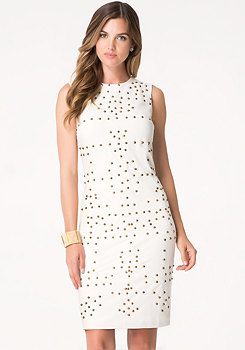 bebe Petite Studded Midi Dress