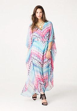 bebe Petite Kaftan Maxi Dress